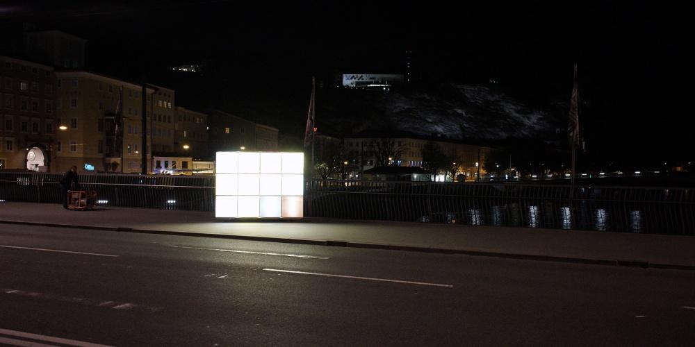 Oberlichte auf der Salzach, mobiler Kunstraum,